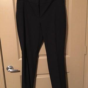 Navy Wide Leg Dress Pant